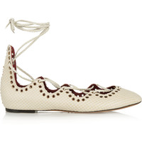 Isabel Marant - Leo snake-effect leather ballet flats