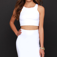 Double Entendre Ivory Two-Piece Dress