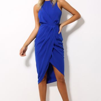 Call Me All Night Dress Cobalt