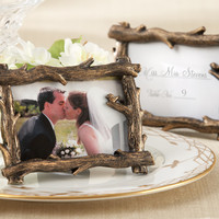 """Scenic View"" Tree-Branch Place Card Frame Wedding Favors"