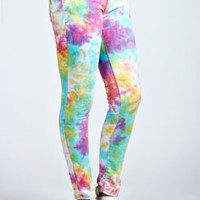 Rochelle Bright Tie Dye Stretch Slim Leg Jeans
