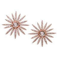 Diamond Starburst Stud Earrings by EF Collection