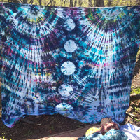 Moon Tower Tie Dye Tapestry