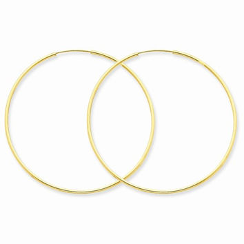14k Yellow Gold 1.25MM Endless Hoop Earring