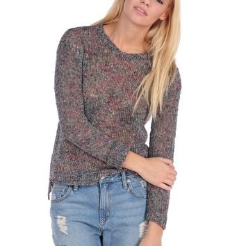 Vintage Havana Speckled Slub Yarn Sweater