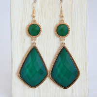 Emerald Cocktail Earrings
