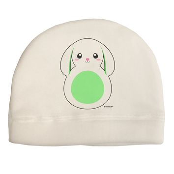 Cute Bunny with Floppy Ears - Green Adult Fleece Beanie Cap Hat by TooLoud