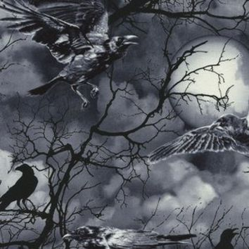 Crows in Black (Timeless Treasures House Designer - Wicked Eve)