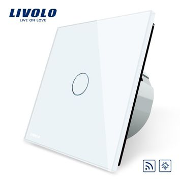 Livolo EU Standard Switch Eu Standards AC 220~250V Remote& Dimmer Wall Light Switch VL-C701DR-1 2 3 5