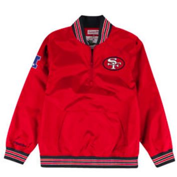 1/4 Zip Nylon Pullover San Francisco 49ers