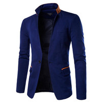 One Button Slim Fit Men's Fashion Blazer