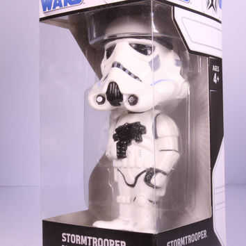 Funko Wacky Wobbler Bobble Head, Star Wars Storm Trooper Chrome Base