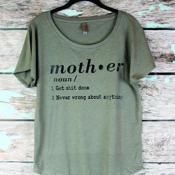Funny Mom Shirt. Mothers Day shirt, Gift for mom , New Mom Shirt