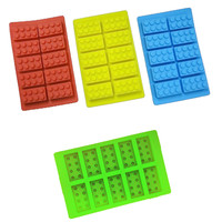 Lego Brick Silicone Mold for Ice Jelly Dessert Candy Chocolate