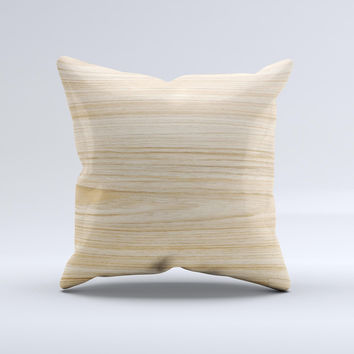 LightGrained Hard Wood Floor ink-Fuzed Decorative Throw Pillow
