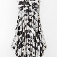 Printed Strap Sleeveless Midi Dress
