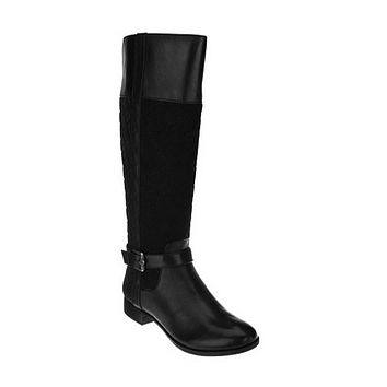 Isaac Mizrahi Live! Women's Quilted Tall Shaft Riding Boots