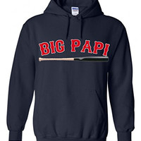 "David Ortiz Boston Red Sox ""Big Papi"" Hooded Sweatshirt ADULT XL"