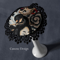 Cunene Japanese Death Pin-up Cocktail Hat