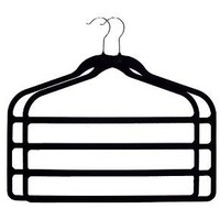 Huggable Hangers 2pc 4-Bar Hangers - Black