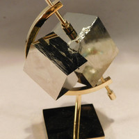 TWO Larger 100% Natural PYRITE Crystal CUBEs Stand Included from Spain 471gr e