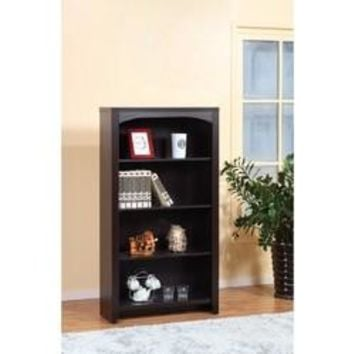 Modern style 4-Tier Bookcase With 4 Open Shelves.