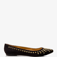 Pyramid Studded Ballet Flats | FOREVER 21 - 2027706118