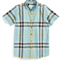 Toddler Boy's Burberry Check Cotton Shirt