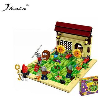 [hot] New ideas plants vs zombies struck game Building Blocks set Toys Compatible With legoingly  for children action