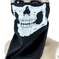Half Face Skull Bandana / Biker Riding Mask