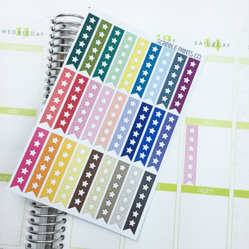 27 Star Checklist Die-Cut Stickers // (Perfect for Erin Condren Life Planners)