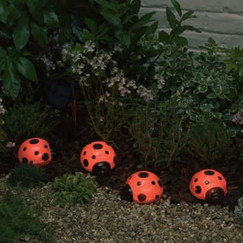 Smart Solar-Ladybug Solar Light Set - Set of 4