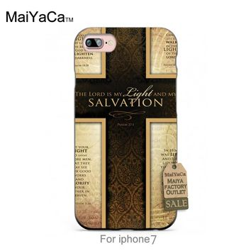 MaiYaCa Silicone case Jesus Christ Cross Bible Verse Quotes Hot selling fashion design skin thin  cell For case  6 6plus 7 7plus