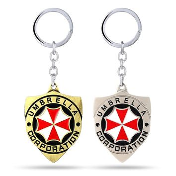 Resident Evil Key Chain Red Umbrella Key Rings For Gift Chaveiro Car Keychain Jewelry Game Key Holder Souvenir YS11237