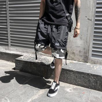 Hip Hop Shorts Men Streetwear Shorts Camouflage Slim Fit Shorts Cargo Shorts