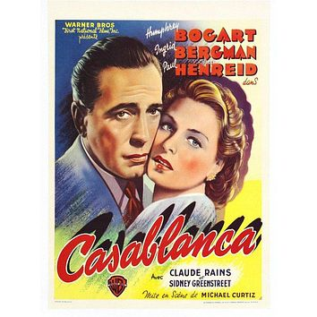 Vintage Casablanca Movie Poster// Classic Movie Poster//Movie Poster//Poster Reprint//Home Decor//Wall Decor//Vintage Art