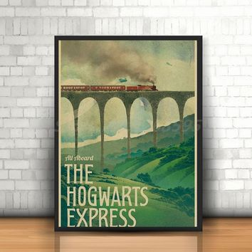 New Vintage Poster Harry Potter Hogwarts Express Art Canvas Poster Painting Wall Picture Print Home Bedroom Decoration Artwork