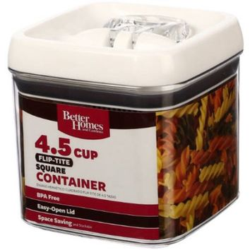 Better Homes and Gardens Flip-Tite 4.5 Cup Square Container - Walmart.com