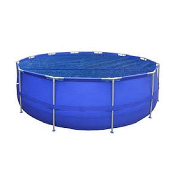14 ft Round Floating Steel Frame Swimming Pool Solar Cover Blanket