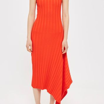 Asymmetric Ribbed Dress by Boutique