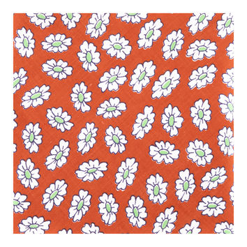 1960's Flower Power Pocket Square