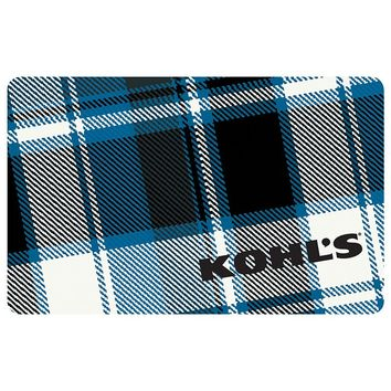 $50 Blue Plaid Gift Card