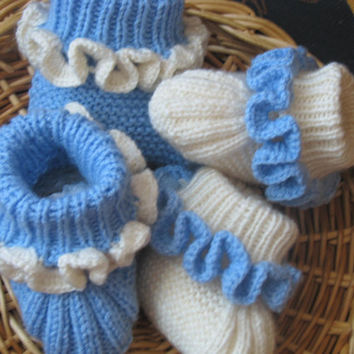 Set for twins.  baby slippers