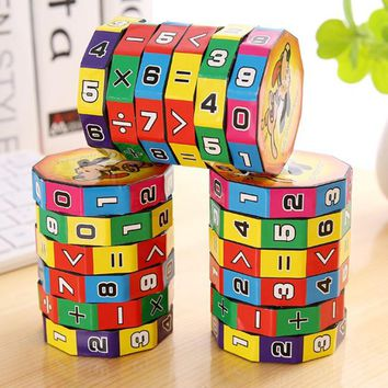 Digital Cube Children's Mathematics Puzzle Toys Children Educational Learning Math Toys Numbers Magic Cube Toy For Kids