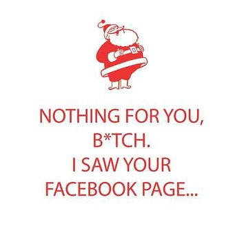Nothing For You, B*tch. I Saw Your Facebook Page - Beverage Napkins 20-Ct