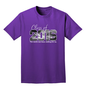 Class of 2016 Waiting For Us Adult Dark T-Shirt