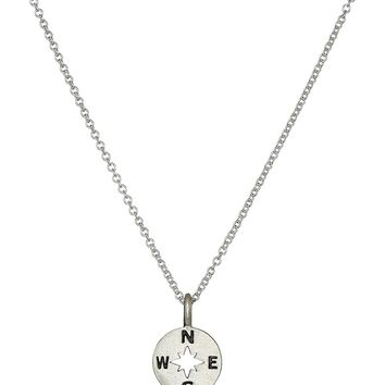 "Dogeared ""Going Places"" Compass Disc Chain Necklace"