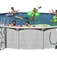 Splash Pools Above Ground Round Pool Package, 30-Feet by 52-Inch