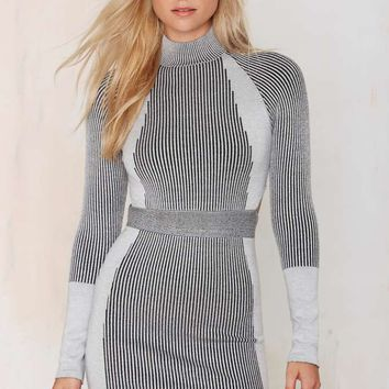 Nasty Gal Die Hard Ribbed Bodycon Dress