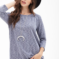 FOREVER 21 Heathered Raglan Pullover